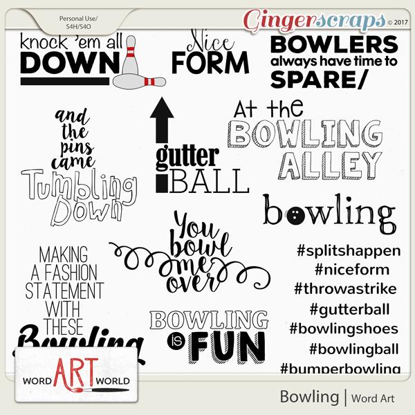 Bowling Word Art