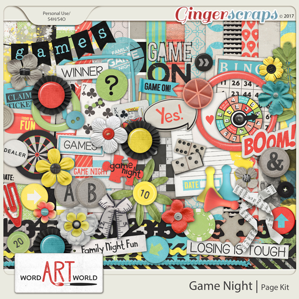Game Night Page Kit