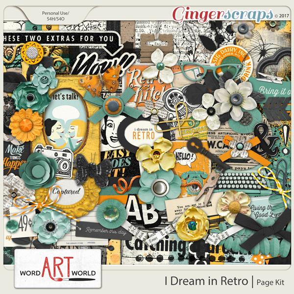 I Dream in Retro Page Kit
