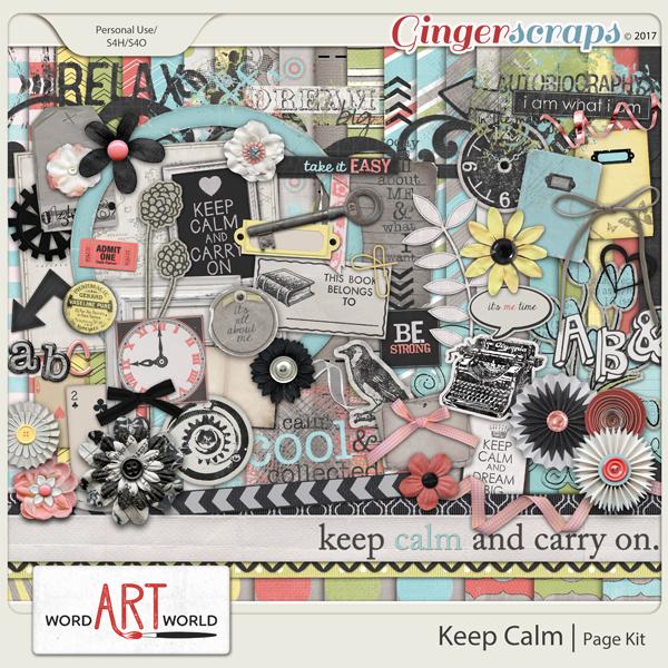 Keep Calm Page Kit