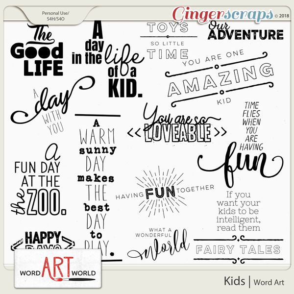 Kids Word Art