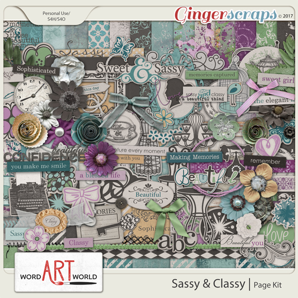 Sassy and Classy Page Kit