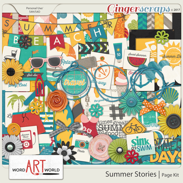 Summer Stories Page Kit
