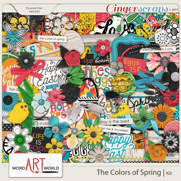 The Colors of Spring Page Kit