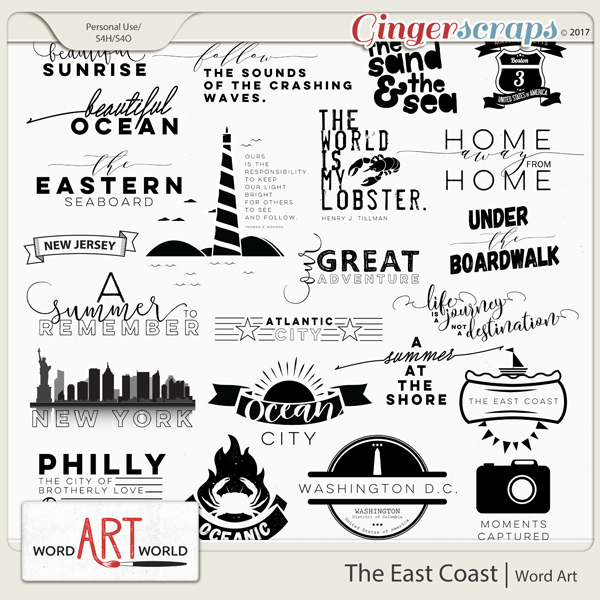 The East Coast Word Art