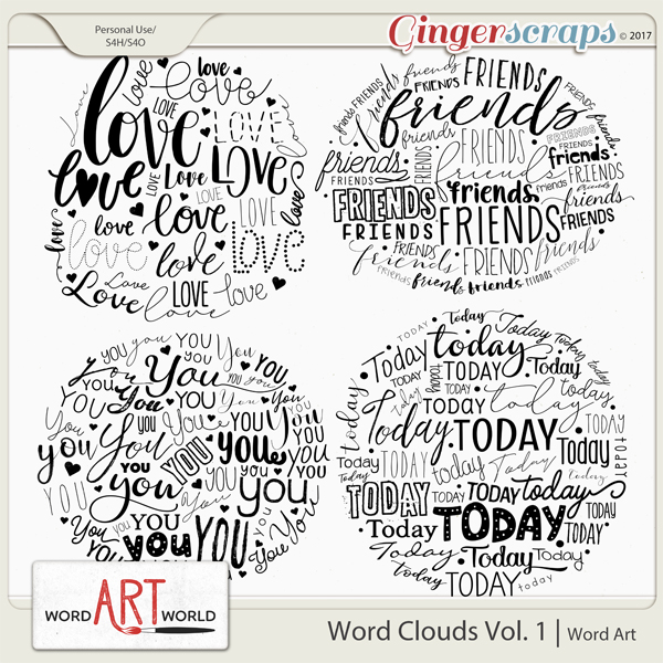 Word Clouds Vol. 1