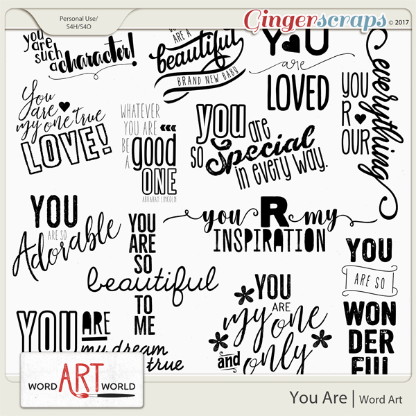 You Are Word Art