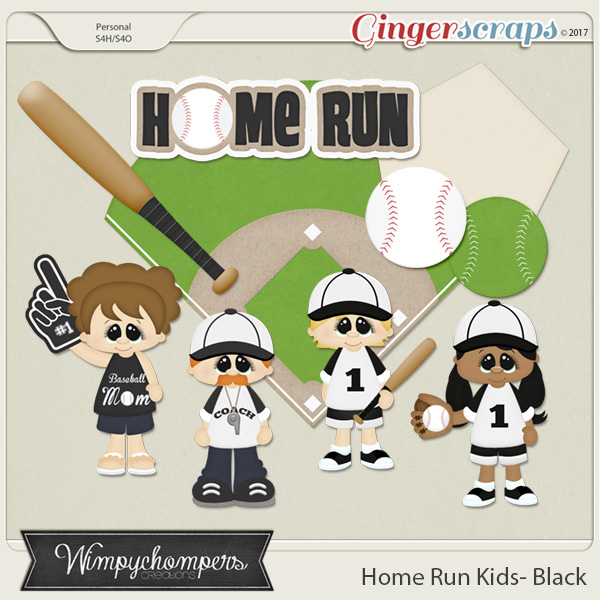 Home Run Kids- Black