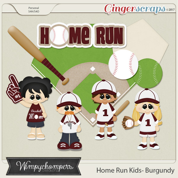 Home Run Kids- Burgundy