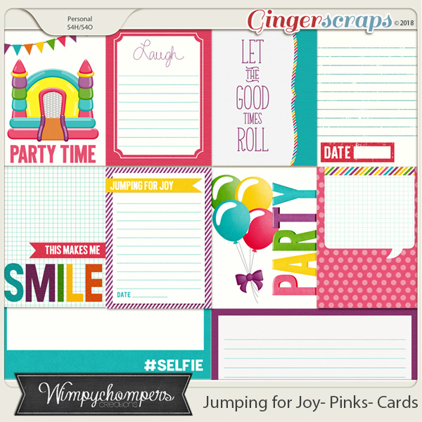 Jumping for Joy- Pinks Cards