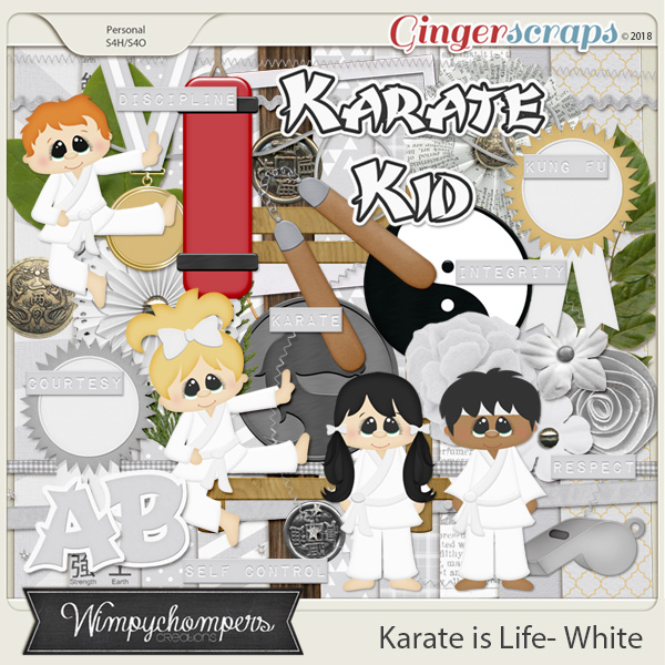 Karate is Life- White