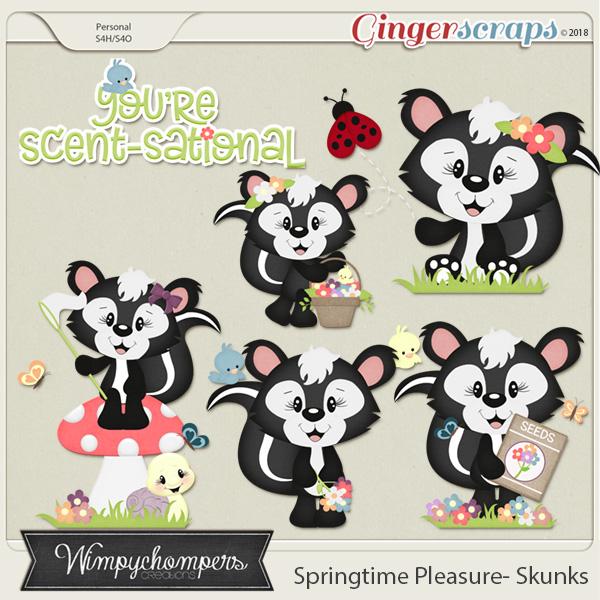 Springtime Pleasure Skunks