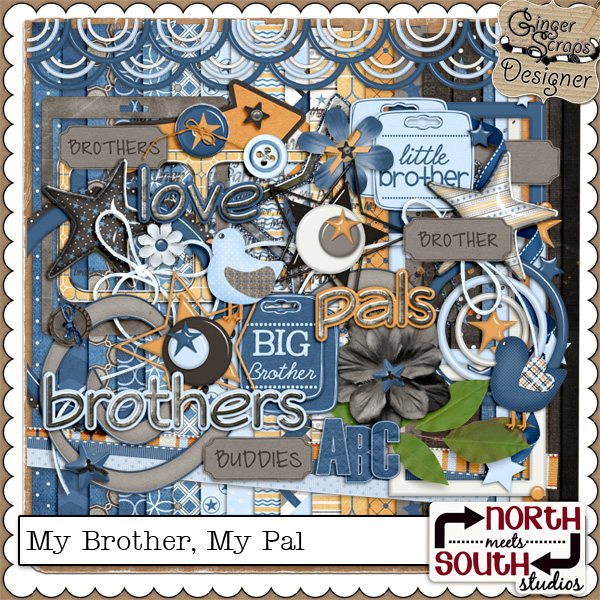 My Brother, My Pal {Full Kit} by North Meets South Studios