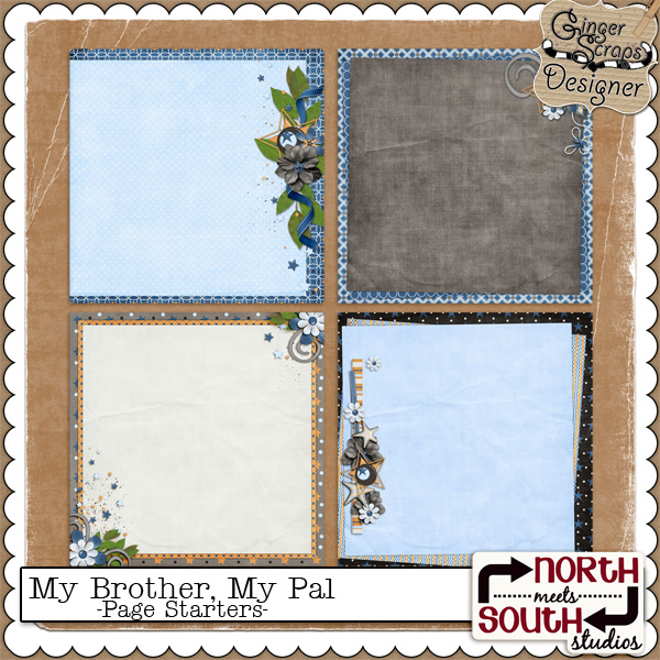 My Brother, My Pal {Page Starters} by North Meets South Studios