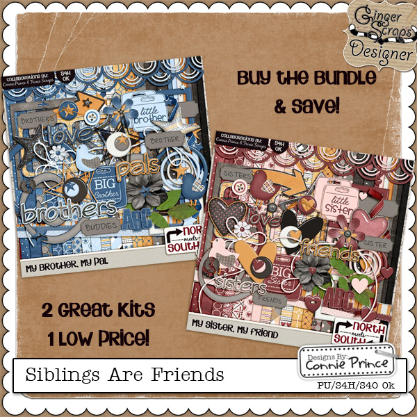 Siblings Are Friends {Value Bundle} by North Meets South Studios