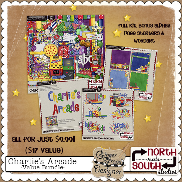 Charlie&#039;s Arcade {Bundle} by North Meets South Studios