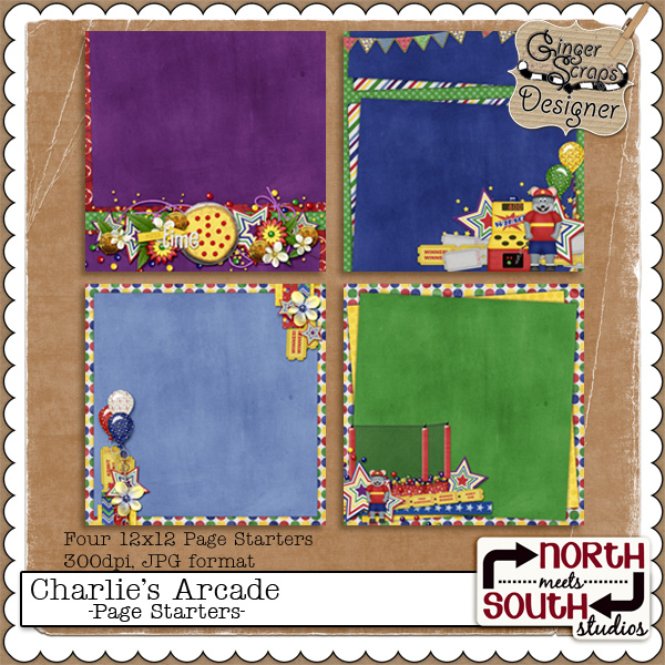 Charlie&#039;s Arcade {Page Starters} by North Meets South Studios