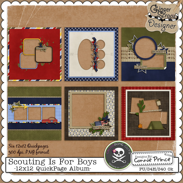Scouting is for Boys {Quickpages} by North Meets South Studios