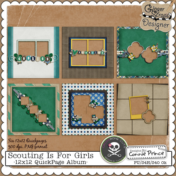 Scouting is for Girls {Quickpages} by North Meets South Studios