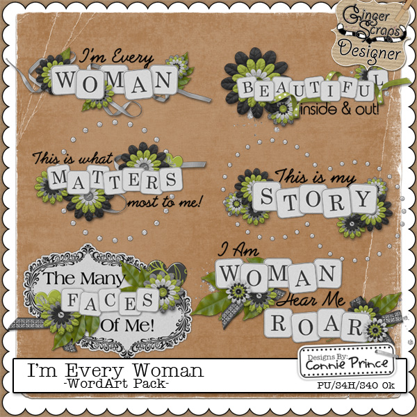 I&#039;m Every Woman - WordArt Pack