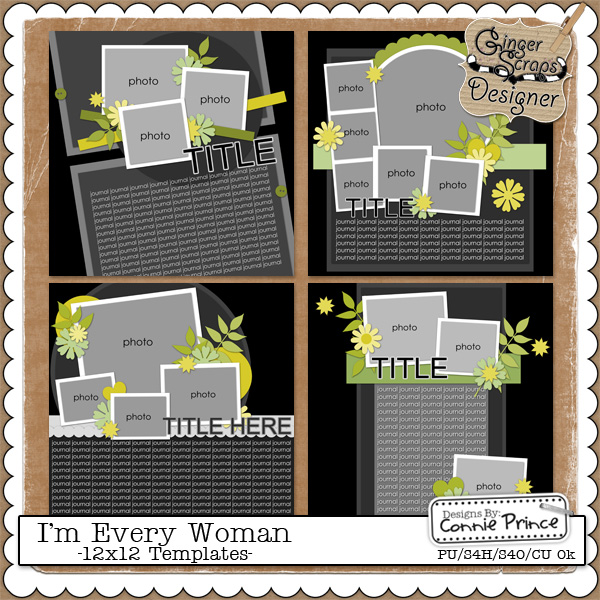 I'm Every Woman - 12x12 Temps (CU OK)