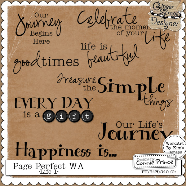 Page Perfect Word Art - Life #1