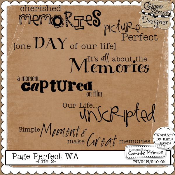Page Perfect WordArt - Life #2