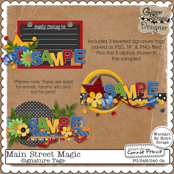 Main Street Magic - Signature Tags