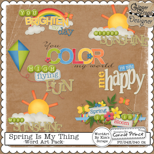 Spring Is My Thing - Word Art Pack