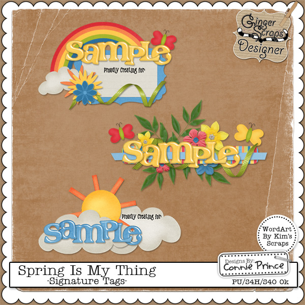 Spring Is My Thing - Signature Tag