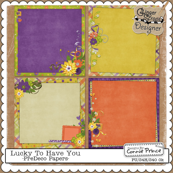 Lucky To Have You - PreDeco Papers