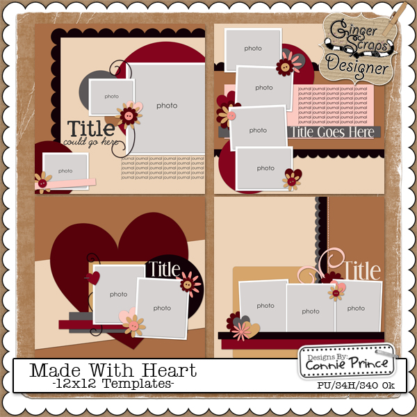 Made With Heart - 12x12 Temps (CU Ok)