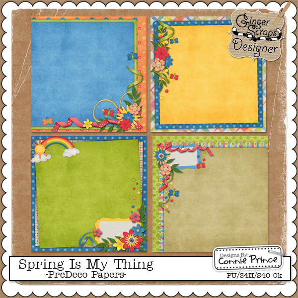 Spring Is My Thing - PreDeco Papers