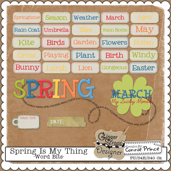 Spring Is My Thing - Word Bits