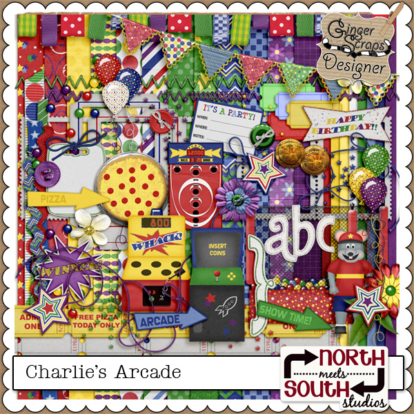 Charlie's Arcade {Full Kit} by North Meets South Studios