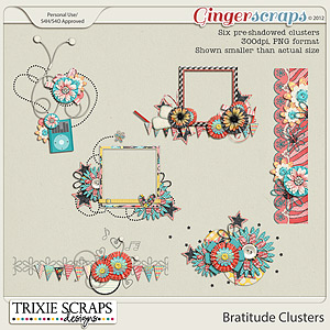 Bratitude Clusters by Trixie Scraps Designs