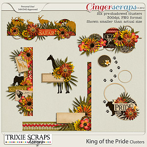 King of the Pride Clusters by Trixie Scraps Designs