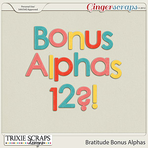 Bratitude Bonus Alphas by Trixie Scraps Designs