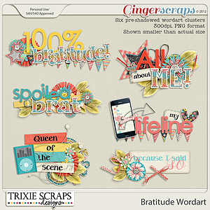 Bratitude Wordart by Trixie Scraps Designs