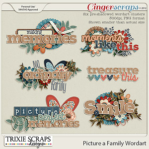 Picture a Family Wordart by Trixie Scraps Designs