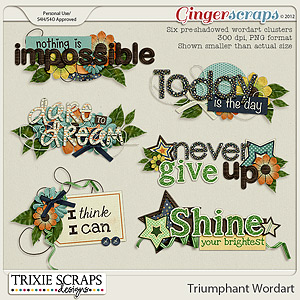 Triumphant Wordart by Trixie Scraps Designs