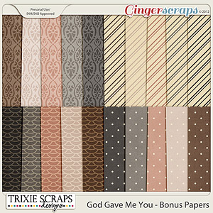 God Gave Me You Bonus Papers by Trixie Scraps Designs