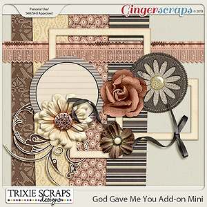 God Gave Me You Mini Kit by Trixie Scraps Designs