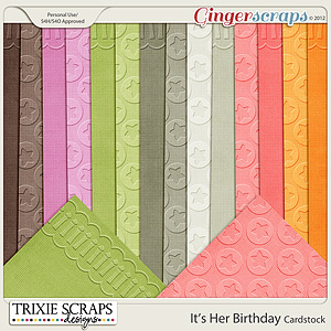 It's Her Birthday Cardstock by Trixie Scraps Designs