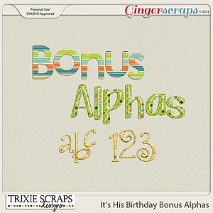 It's His Birthday Bonus Alphas by Trixie Scraps Designs