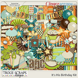 It's His Birthday Full Kit by Trixie Scraps Designs