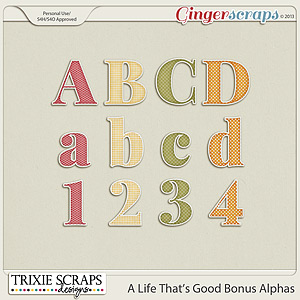 A Life That's Good Bonus Alphas by Trixie Scraps Designs