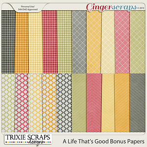 A Life That's Good Bonus Papers by Trixie Scraps Designs
