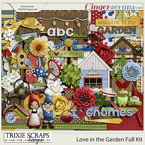Love in the Garden Full Kit by Trixie Scraps Designs