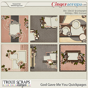 God Gave Me You Quickpages by Trixie Scraps Designs